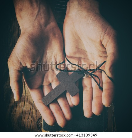 closeup of hands holding...