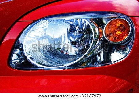 closeup of headlight
