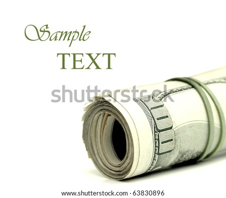 Closeup of hundred dollar bills in a pile