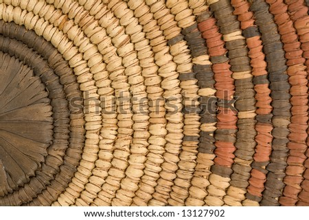 Closeup of Indian Basket in Earth Tones