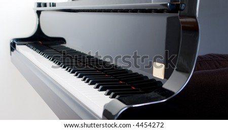 Closeup of keys on a beautiful Grand Piano