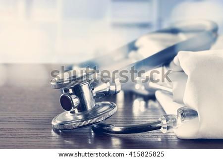 closeup of medical tools