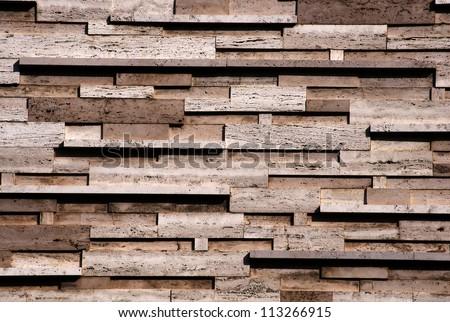 Closeup of modern marble wall