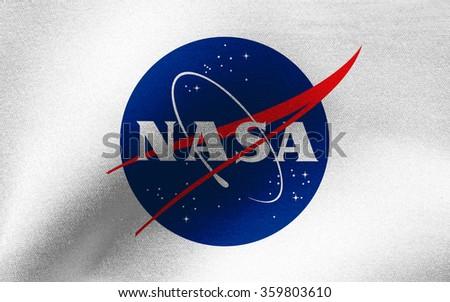 Closeup of NASA flag #359803610