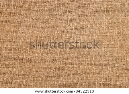 Closeup of natural burlap hessian sacking
