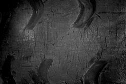 Closeup of old cracked tire texture