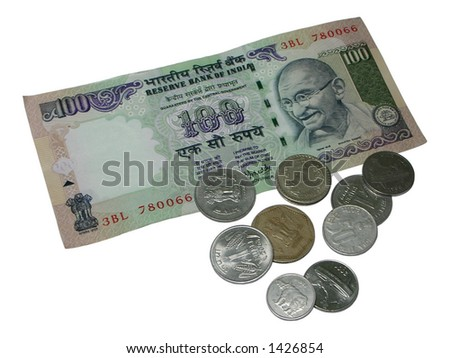 Rupee Note Denominations One Hundred Rupee Note And