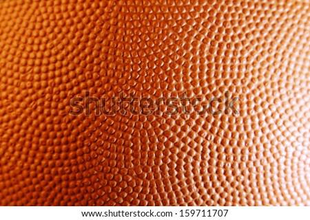 Closeup of orange basketball texture