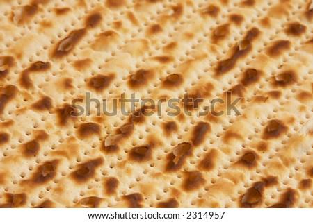 Closeup of Passover Matzah