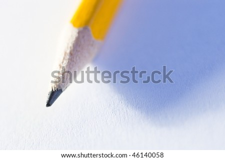 closeup of pencil tip on paper