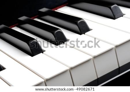 Closeup of piano keybord