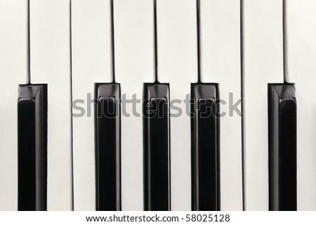 Closeup of piano keys - stock photo