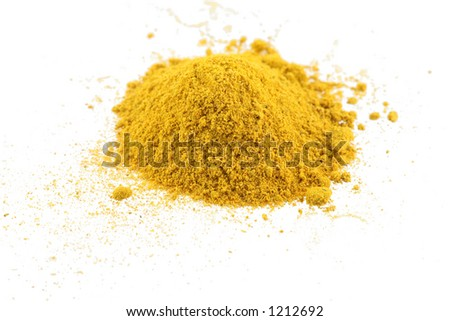 Closeup of pile of curry - stock photo