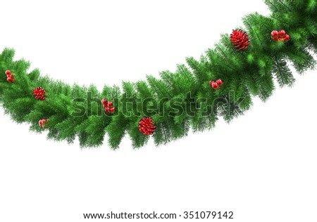 Closeup Of Pine Christmas Decorations #351079142