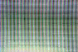Closeup of pixels on a TV screen