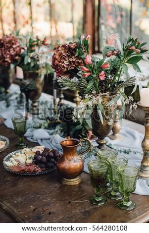 closeup of reception table...