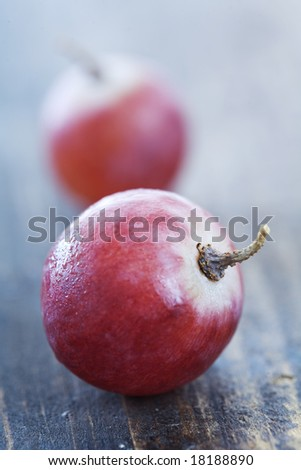 closeup of red grapes
