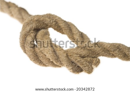 closeup of rope with knot
