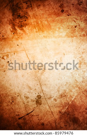 Closeup of rough brown grunge vertical background. Copy space