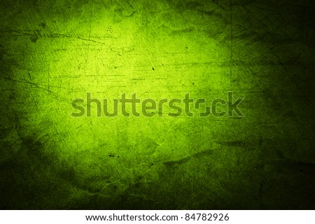 Closeup of rough green textured background. Copy space