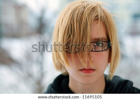 stock photo closeup of sad teen boy with blonde hair and glasses 11695105 sex chat 1 on 1. Published on 28.04.2012 by Al renu, 18/F ...