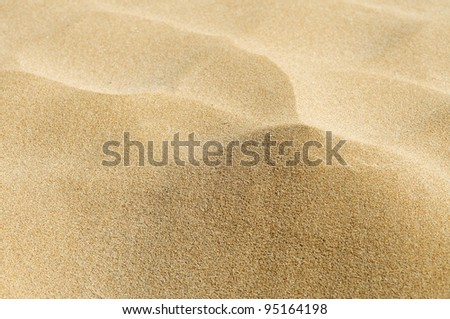 closeup of sand of a beach