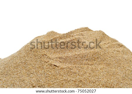 closeup of sand on a white background
