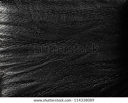 Closeup of seamless luxury  black leather texture