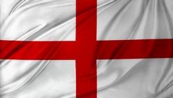 Closeup of silky English flag