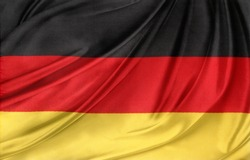 Closeup of silky German flag