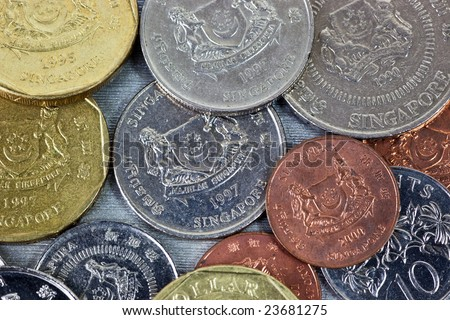 Singapore Coin Picture on Closeup Of Singapore Coins Stock Photo 23681275   Shutterstock