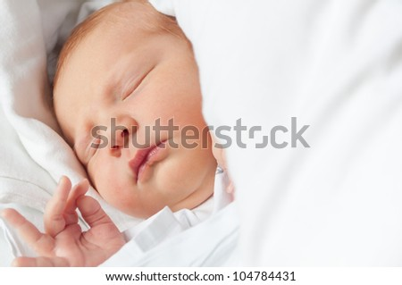 Closeup of Sleeping Newborn Baby