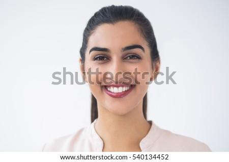 Closeup of Smiling Young Beautiful Indian Woman