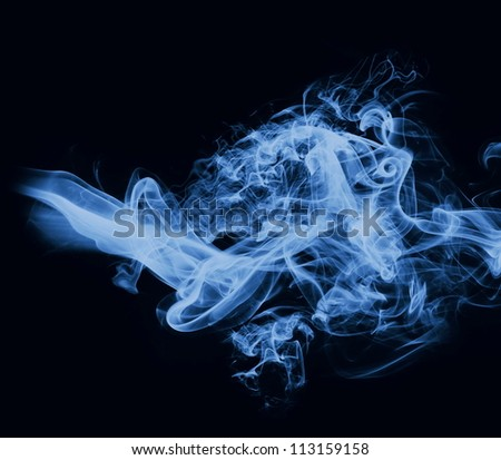 closeup of smoke on the black background