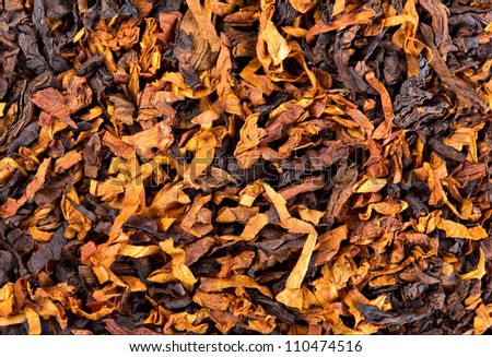 Closeup of smoking tobacco. Background or texture