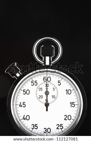 Closeup of stopwatch