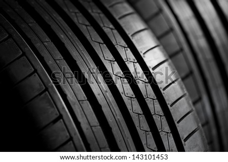 Closeup of summer tire