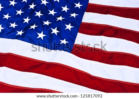 closeup of the american flag for background or wallpaper