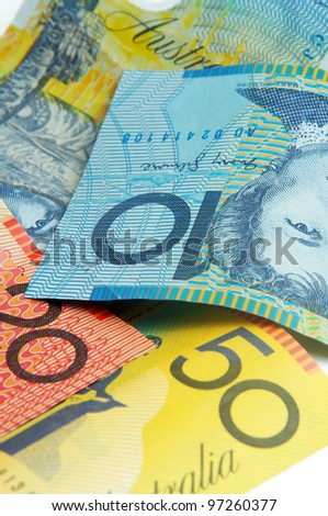 closeup of the australian money