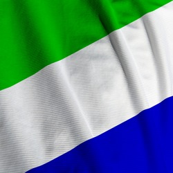 Closeup of the flag of Sierra Leone, square image