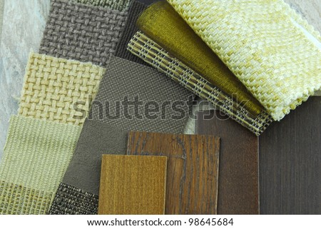 closeup of the home decoration planning