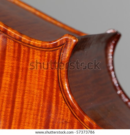 Closeup of the inlay work on an antique cello