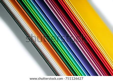 closeup of the multicolor paper #751126627