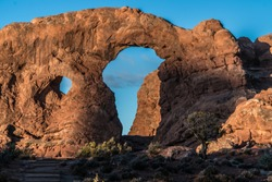 Closeup Of The Turret Arch In Arches National Park.