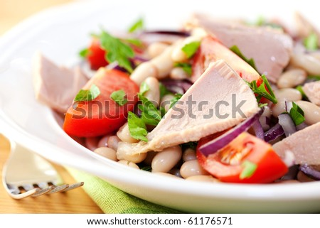 Closeup of tuna salad