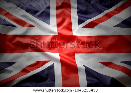 Closeup of Union Jack flag  #1045255438