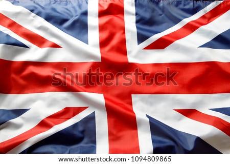Closeup of Union Jack flag  #1094809865