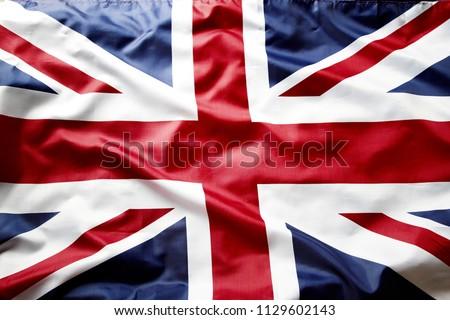 Closeup of Union Jack flag  #1129602143