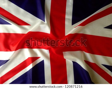 Closeup of Union Jack flag #120871216