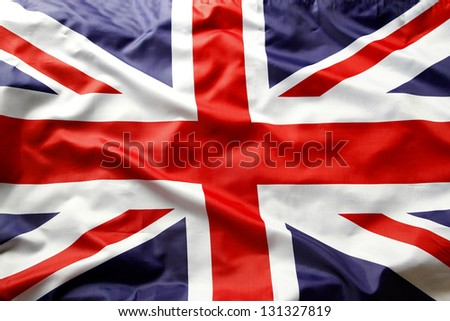 Closeup of Union Jack flag #131327819